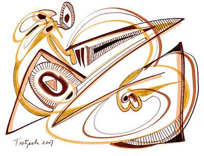 Modern Drawing Twenty Original by Lynne Taetzsch