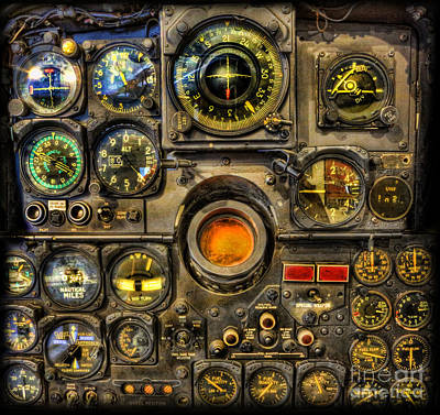 Photograph - Modern Electronic Cockpit - Flight Instruments by Lee Dos Santos