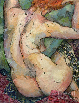 Painting - modern female nude figure art - Felicity by Sharon Hudson