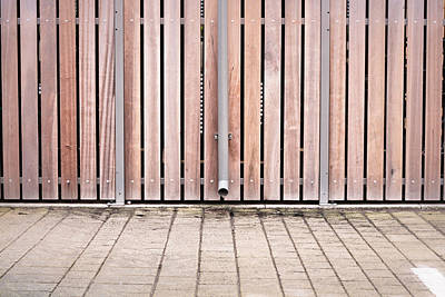 Asphalt Photograph - Modern Fence by Tom Gowanlock
