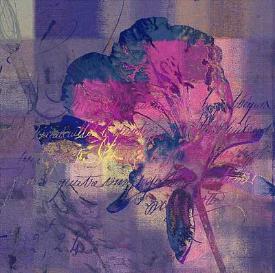 Purple Digital Art - Modern Floral - 072083158 - Mp02b by Variance Collections