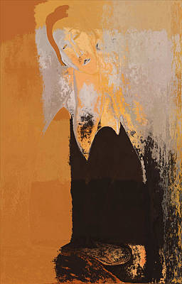 Ocher Digital Art - Modern From Classic Art Portrait - 01 by Variance Collections