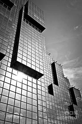 Reflection Photograph - Modern Glass Building by Elena Elisseeva