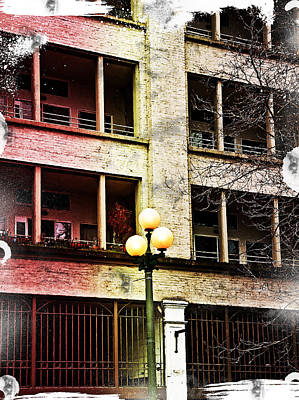 Modern Grungy City Building  Art Print by Valerie Garner