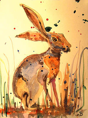 Modern Hare Art Print by Juan  Bosco