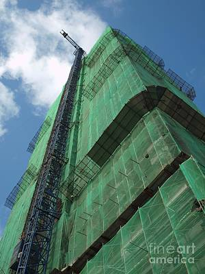 Netting Photograph - Modern Highrise Construction by Yali Shi