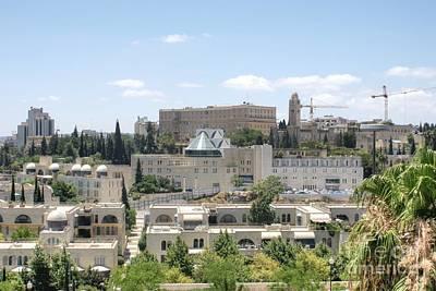Photograph - Modern Jerusalem Skyline by David Birchall