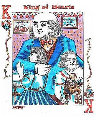 Modern King O' Hearts Art Print by Seth Weaver