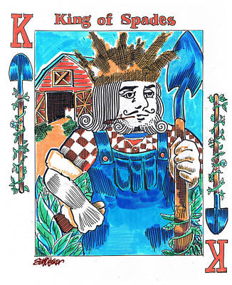 Modern King O' Spades Art Print by Seth Weaver