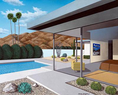 Mid Century Modern Architecture Paintings | Fine Art America