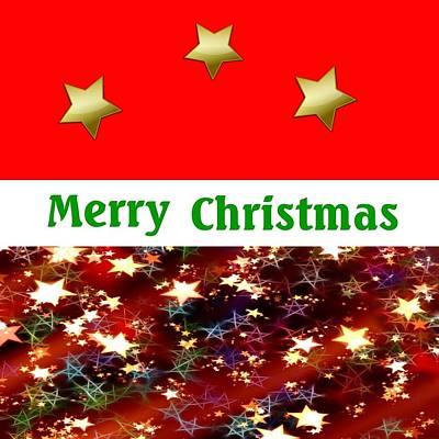 Digital Art - Modern Merry Christmas by Florene Welebny