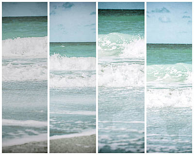 Modern Ocean Quad  Art Print by Lisa Russo