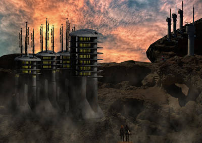 Apocalyptic Digital Art - Modern Outlook by Nathan Wright