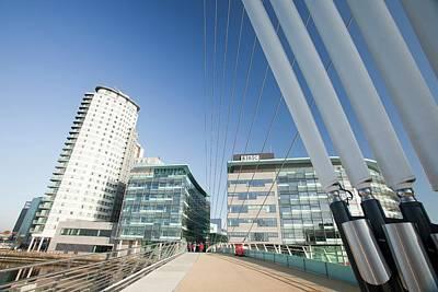 Modern Pedestrian Suspension Bridge Art Print