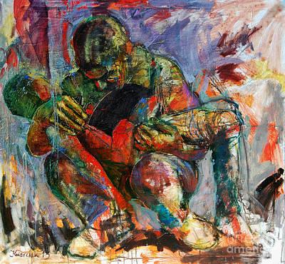Modern Pieta Original by Michal Kwarciak