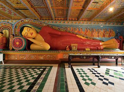Buddha Image Photograph - Modern Reclining Buddha At Isurumuniya by Panoramic Images