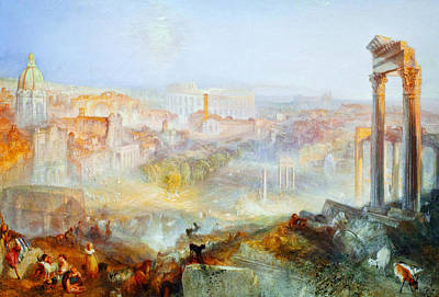 Turner Artwork Painting - Modern Rome Campo Vaccino by Celestial Images