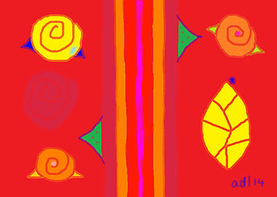Painting - Modern Rose Garden Poem 8 by Anita Dale Livaditis