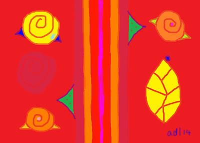 Painting - Modern Rose Garden Poem 8 by Anita Dale Livaditis