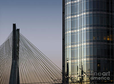 Photograph - Modern Sao Paulo - Brooklin District - Stayed Bridge by Carlos Alkmin