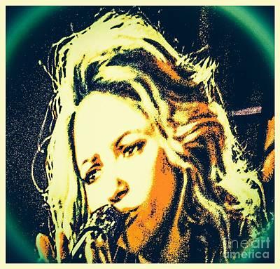 Shakira Digital Art - Modern Shakira by Caroline Gilmore