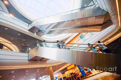 Hurry Photograph - Modern Shopping Mall by Michal Bednarek