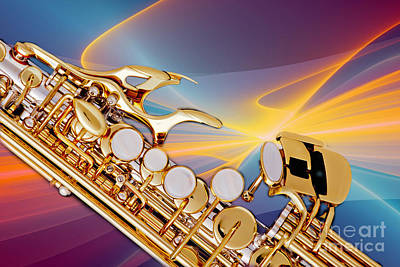 Photograph - Modern Soprano Saxophone Photograph In Color 3344.02 by M K Miller