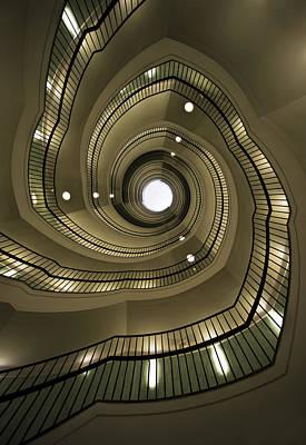 Modern Spiral Staircaise Art Print