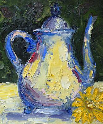 Teapot Painting - Modern Teapot by Lisa Konkol
