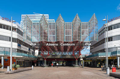 Almere Photograph - Modern Train Station by Hans Engbers