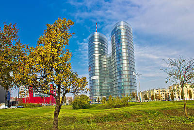 Photograph - Modern Twin Tower In City Of Zagreb by Brch Photography