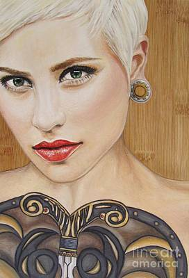 Painting - Modern Warrior Beauty by Malinda  Prudhomme