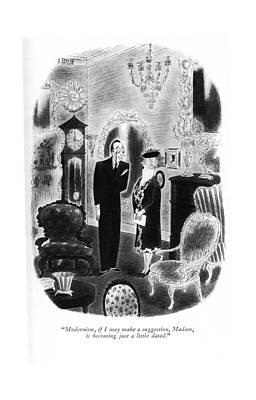Storefront Drawing - Modernism, If I May Make A Suggestion, Madam by Richard Taylor