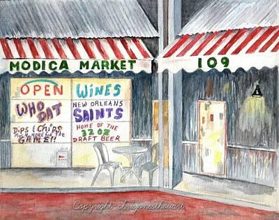 Painting - Modica Market Seaside Fl by Chris Bajon Jones