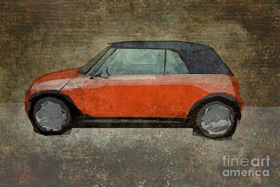 Black Top Digital Art - Modified Mini by Bruce Stanfield