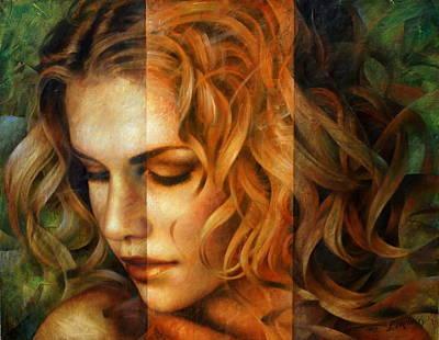 modified version of Portrait Art Print by Arthur Braginsky
