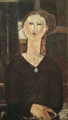 Modigliani, Amedeo 1884-1920. Antonia Art Print by Everett