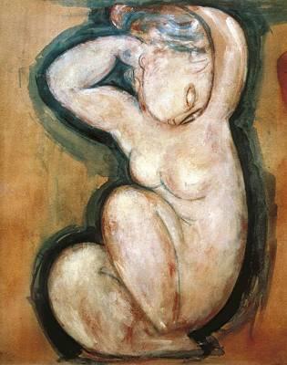 Modigliani, Amedeo 1884-1920. Caryatid Art Print by Everett