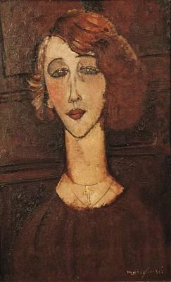 Modigliani, Amedeo 1884-1920. Ren�e Art Print by Everett