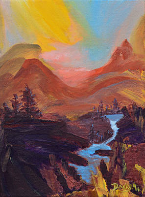 Painting - Modoc Wilderness Sunset by Donna Blackhall