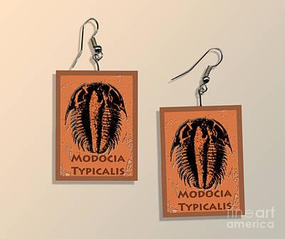 Modocia Typicalis Fossil Trilobite Paper Earrings  Original