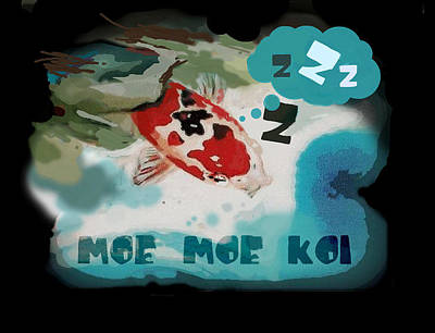 Moe Moe Koi Art Print by Wendy Wiese