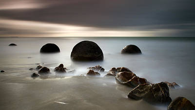Photograph - Moeraki Two by Brad Grove