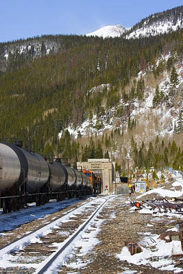Steven Krull Royalty-Free and Rights-Managed Images - Moffat Tunnel East Portal at the Continental Divide in Colorado by Steven Krull
