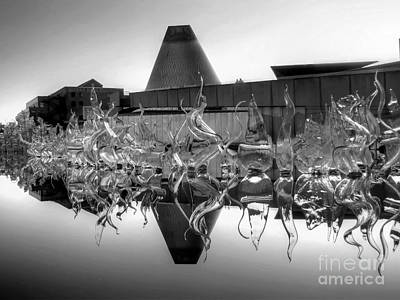 Claude Monet - MOG Reflected BW by Chris Anderson