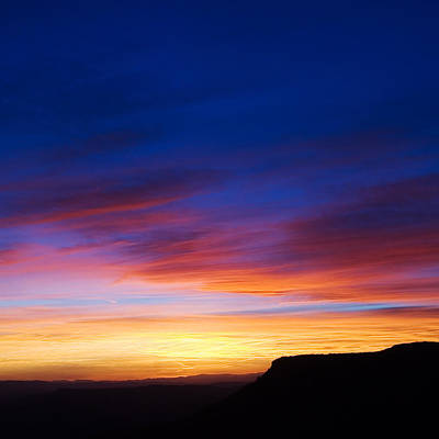 Photograph - Mogollon Rim Afterglow by Brad Brizek