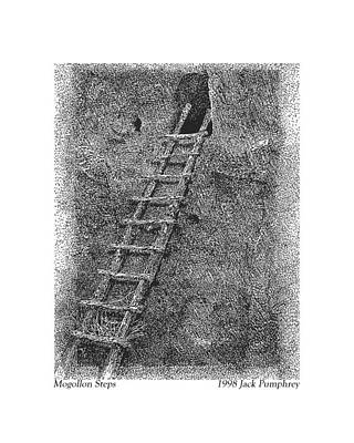 Drawing - Mogollon Steps by Jack Pumphrey