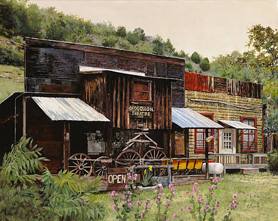 Cedars Painting - Mogollon-theatre-new Mexico  by Guido Borelli