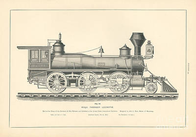 Baltimore Drawing - Mogul Passenger Locomotive Fig. 54 by MMG Archive Prints