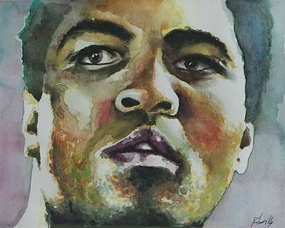 Mohammad Painting - Mohammad Ali - Portrait 1 by Baresh Kebar - Kibar